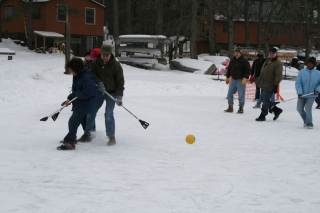 Broom Ball Action